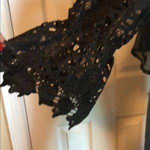 Allison Tops - Beautiful black Lacey cold shoulder summer blouse